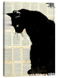 Canvas  Black cat - Loui Jover