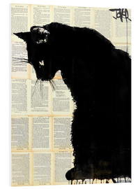 Foam board print  Black cat - Loui Jover