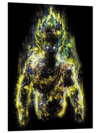 Foam board print  50 Million Power Warrior Goku - Barrett Biggers