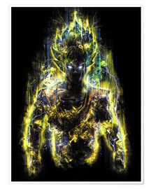 Premium poster  50 Million Power Warrior Goku - Barrett Biggers