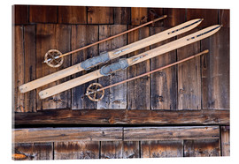 Acrylic print  Old Ski in Switzerland - Dieterich Fotografie