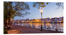 Acrylic print  Basel at night - Dieterich Fotografie