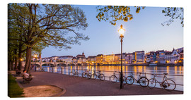 Canvas print  Basel at night - Dieterich Fotografie