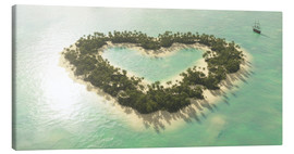 Canvas  The heart island - Peter Weishaupt