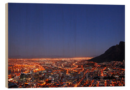 Wood  Cape Town at night, South Africa - wiw