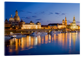 Acrylic print  Dresden at night - Dieterich Fotografie