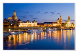 Premium poster  Dresden at night - Dieterich Fotografie