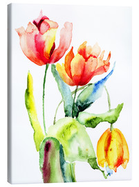 Canvas print  Three Tulips