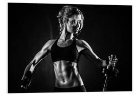 Forex  Sportswoman with barbell