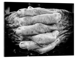 Acrylic print  Hands of an old man