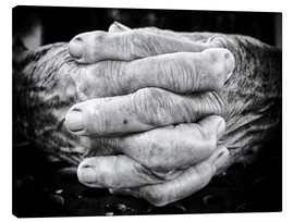Canvas print  Hands of an old man