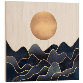 Wood print  Waves - Elisabeth Fredriksson