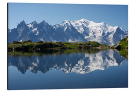 Aluminium print  Lake at Mont Blanc