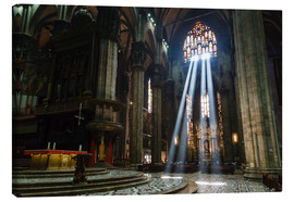 Canvas  Beams of Light inside Milan Cathedral