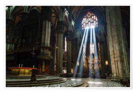 Premium poster  Beams of Light inside Milan Cathedral