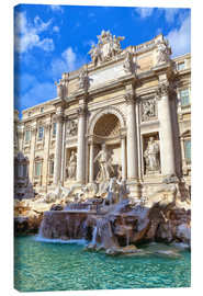 Canvas  Trevi Fountain under blue sky