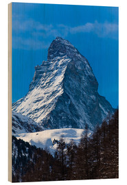 Wood print  Matterhorn, Switzerland
