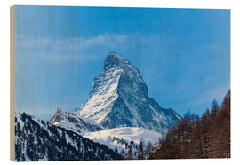 Wood print  The Matterhorn, Switzerland