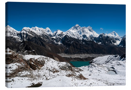 Canvas print  Everest, Lhotse, Makalu, Nuptse