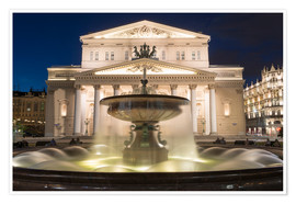 Premium poster  Fountain and Bolshoi Theatre