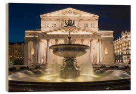 Wood  Fountain and Bolshoi Theatre