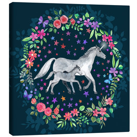 Canvas print  Mama and Baby Unicorn - Micklyn Le Feuvre