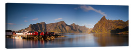 Canvas print  Panorama fishing village Hamnoy, Lofoten, Norway - Circumnavigation