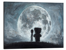 Aluminium print  In my dreams you always bring me to the Moon - Adrian Borda