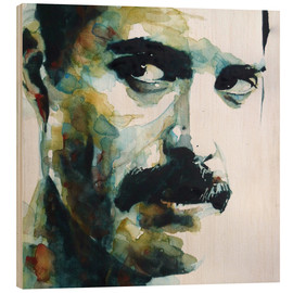 Wood print  Freddie Mercury - Paul Lovering Arts