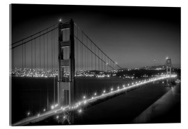 Acrylic print  Evening Cityscape of Golden Gate Bridge - Melanie Viola
