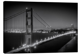 Canvas print  Evening Cityscape of Golden Gate Bridge - Melanie Viola