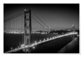 Premium poster Evening Cityscape of Golden Gate Bridge