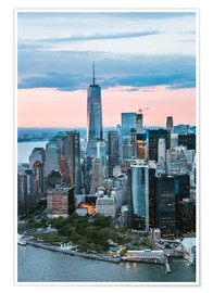 Premium poster  Aerial view of World Trade Center and lower Manhattan, New York, USA - Matteo Colombo