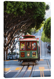 Canvas  Cable tram in a street of San Francisco, California, USA - Matteo Colombo