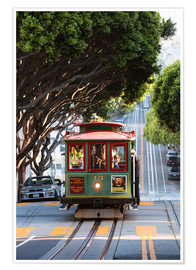 Premium poster  Cable tram in San Francisco, California, USA - Matteo Colombo