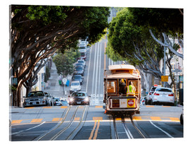 Acrylic print  Cable tram in a street of San Francisco, California, USA - Matteo Colombo
