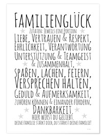 Premium poster Ingredients for Family Happiness (German)