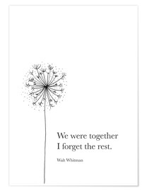 Poster  We were together - RNDMS