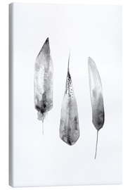 Canvas print  Three Feathers - RNDMS