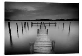 Acrylic print  Old wooden pier in the still waters - Filtergrafia
