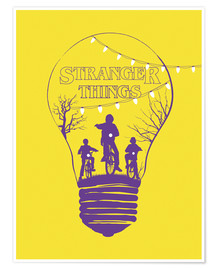 Premium poster Stranger Things, yellow version