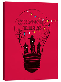 Canvas print  Stranger Things - Golden Planet Prints