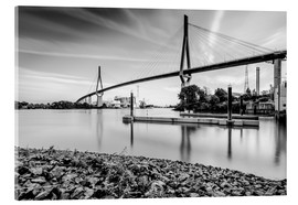 Acrylic glass  Hamburg | Köhlbrand bridge (black & white) - Kristian Goretzki