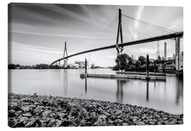 Canvas print  Hamburg | Köhlbrand bridge (black & white) - Kristian Goretzki