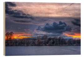 Wood print  Clouds above the HDI Arena - Holger Bücker (BuPix)