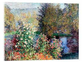 Acrylic print  The corner - Claude Monet