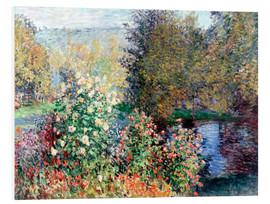 Foam board print  The corner - Claude Monet
