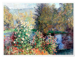 Premium poster  The corner - Claude Monet