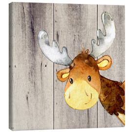 Canvas  4 Friends - Forest Animals - Moose - UtArt