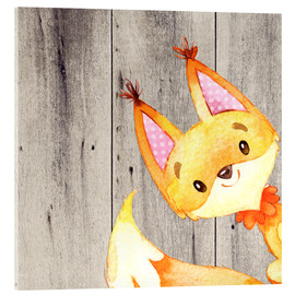 Acrylic print  4 Forest Animal Friends - Fox - UtArt